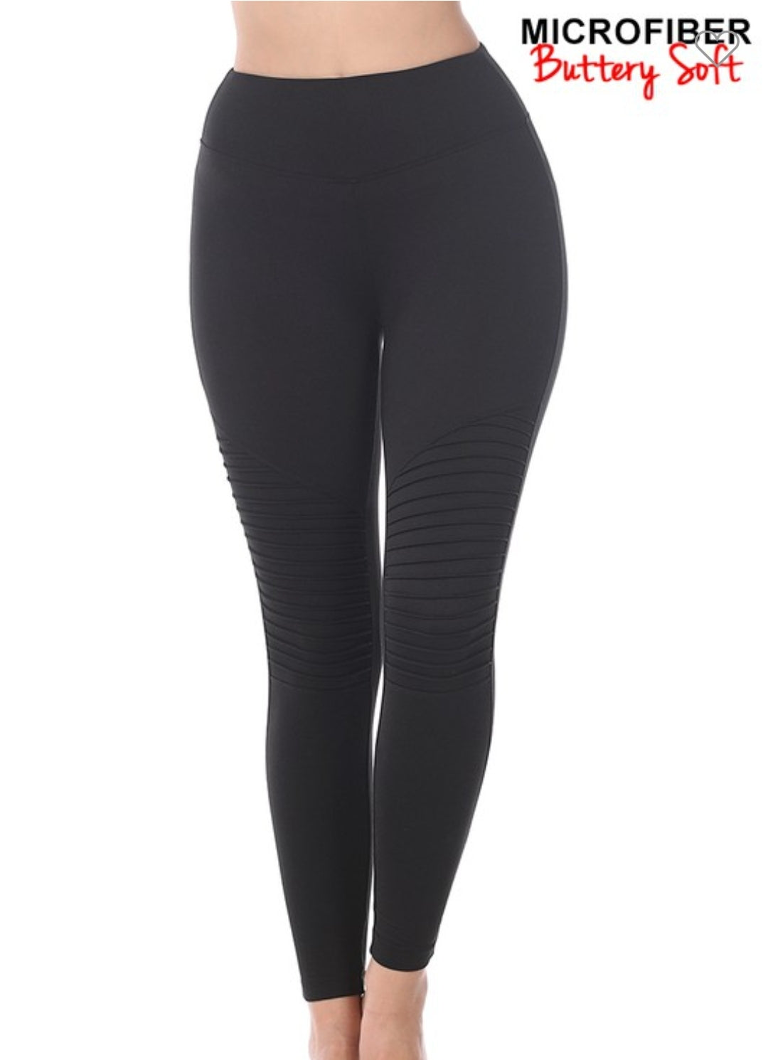Zenana Black Moto Leggings