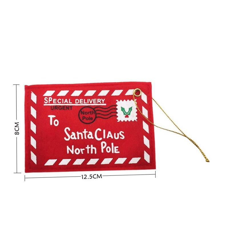 Hanging Embroidered Christmas Envelope
