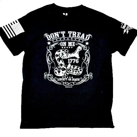 Don't Tread On Me Black T Shirt