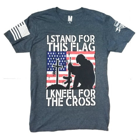 I Stand For The Flag and Kneel For The Cross T Shirt