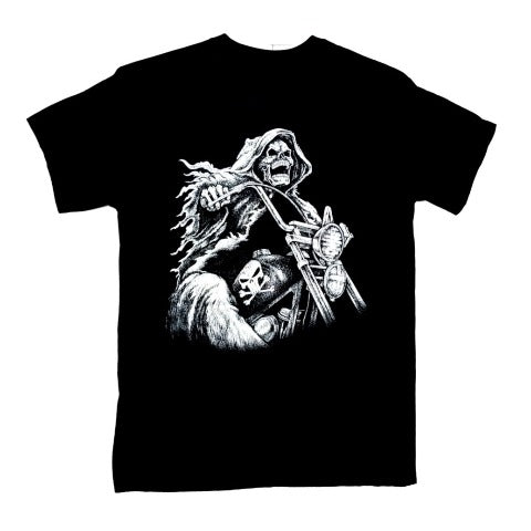Skeleton Biker Life T Shirt