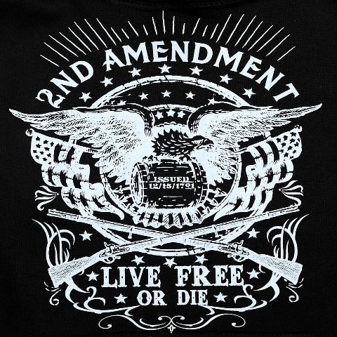 2nd Amendment Black Hooded Sweatshirt