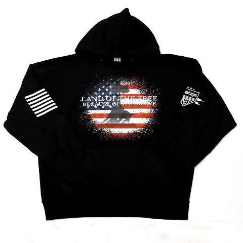 Land of the Free Black Hooded Sweatshirt