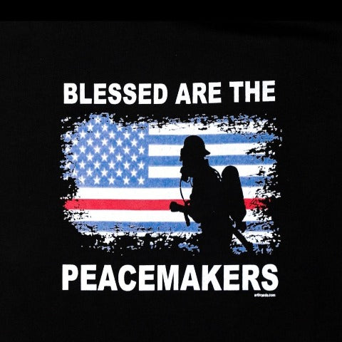 Blessed Our The Peacemakers Fire Department Black Hooded Sweatshirt