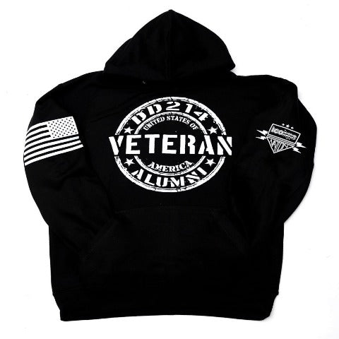 Veteran Black Hooded Sweatshirt