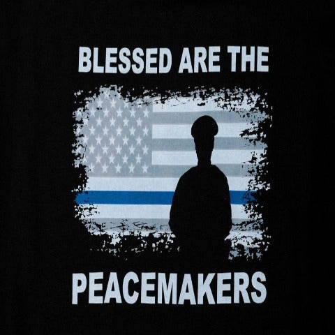 Blessed Our The Peacemakers Police Hoodie
