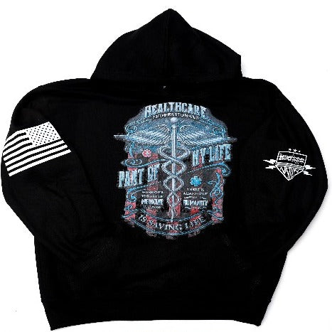 Healthcare Professionals Black Hooded Sweatshirt