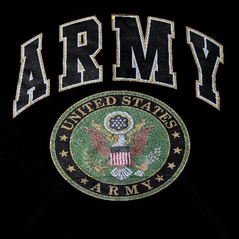 Army Seal Black Hooded Sweatshirt