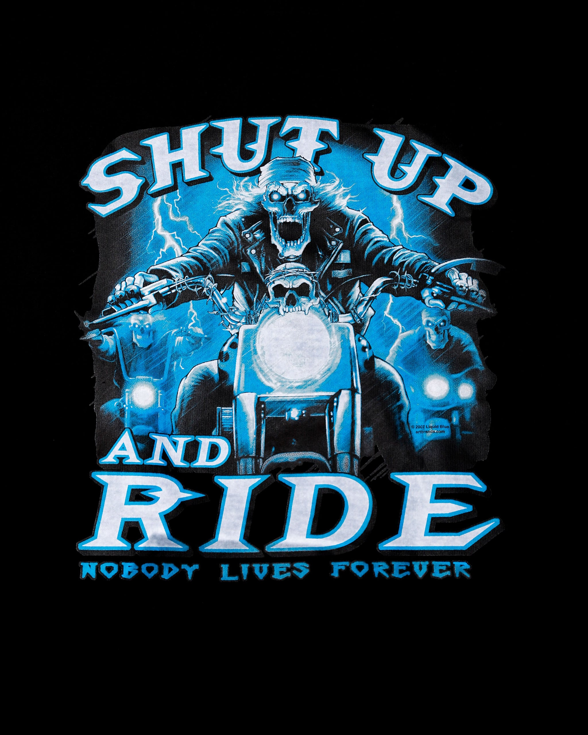 Shut Up and Ride Biker Black Hooded Sweatshirt
