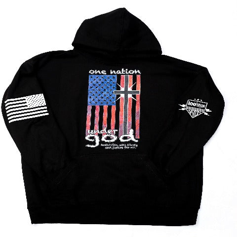 One Nation Black Hooded Sweatshirt