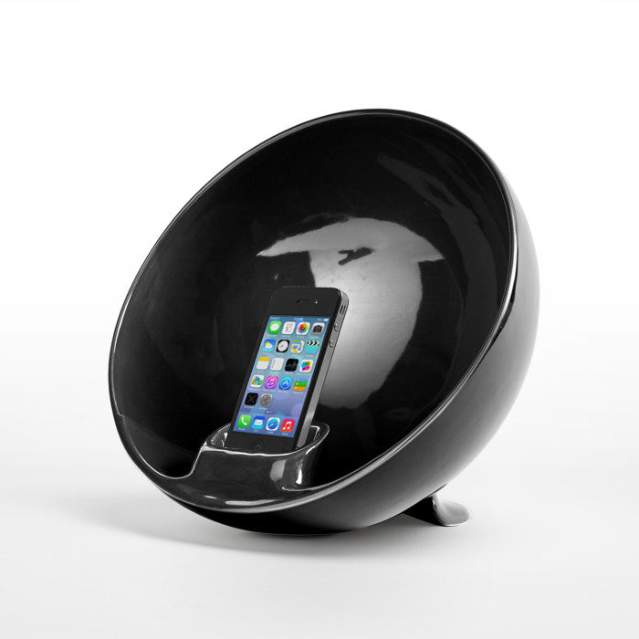 Amplificatore Iphone Ipod Naturale Emisphere Nero Totodesign