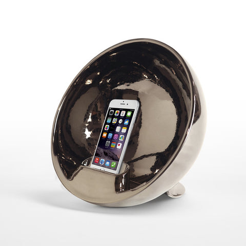 Amplificatore Iphone Ipod Naturale Emisphere Silver Totodesign