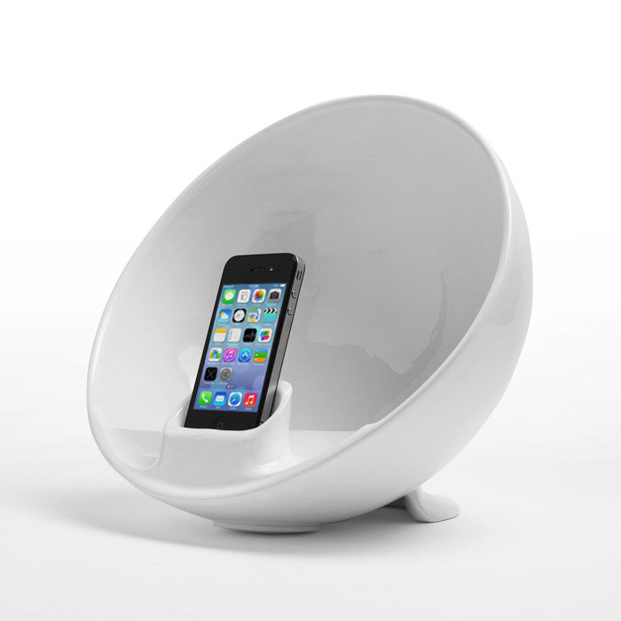 Amplificatore Iphone Ipod Naturale Emisphere Bianco Totodesign