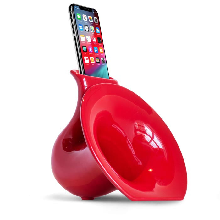 Amplificatore Iphone Ipod Naturale Saxo-Phone Mini Rosso