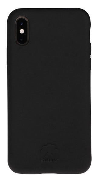 Custodia Cover iPhone XS iNature 100% Biodegradabile Ecologica Black