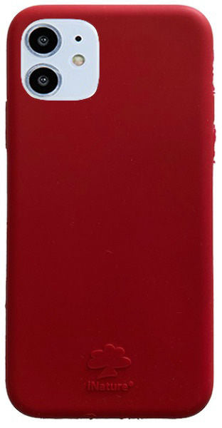 Custodia Cover iPhone 11 iNature 100% Biodegradabile Ecologica Red