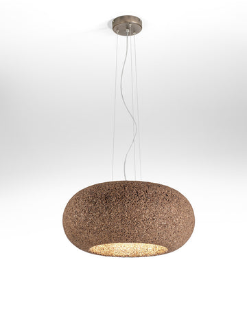 Lampada A Sospensione In Sughero Disco Lamp Greencorks Collection