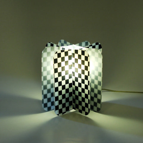 Lampada Ecologica Abat-Jour Chess Join Lamp Patterns Remind Nero