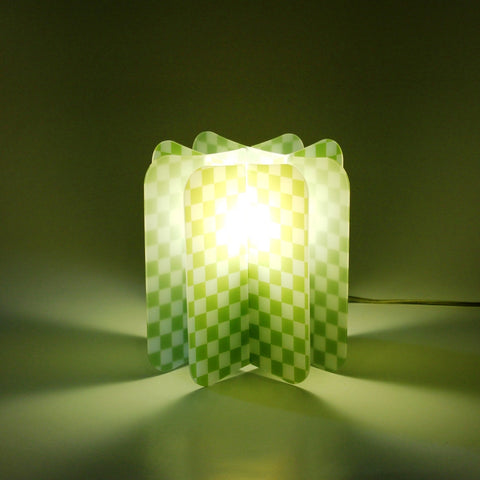 Lampada Ecologica Abat-Jour Chess Join Lamp Patterns Remind Verde