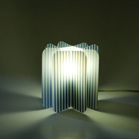 Lampada Ecologica Abat-Jour Line Join Lamp Patterns Remind Azzurro
