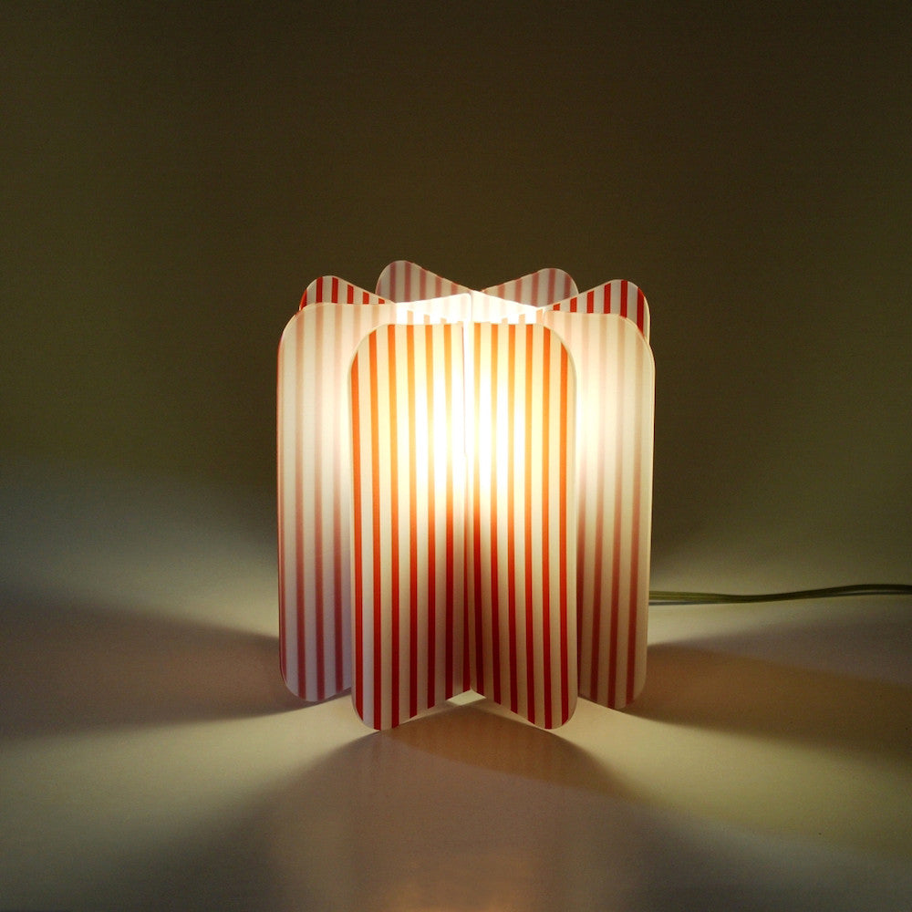 Lampada Ecologica Abat-Jour Line Join Lamp Patterns Remind Rosso