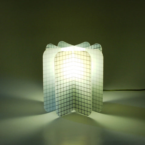 Lampada Ecologica Abat-Jour Net Join Lamp Patterns Remind Nero