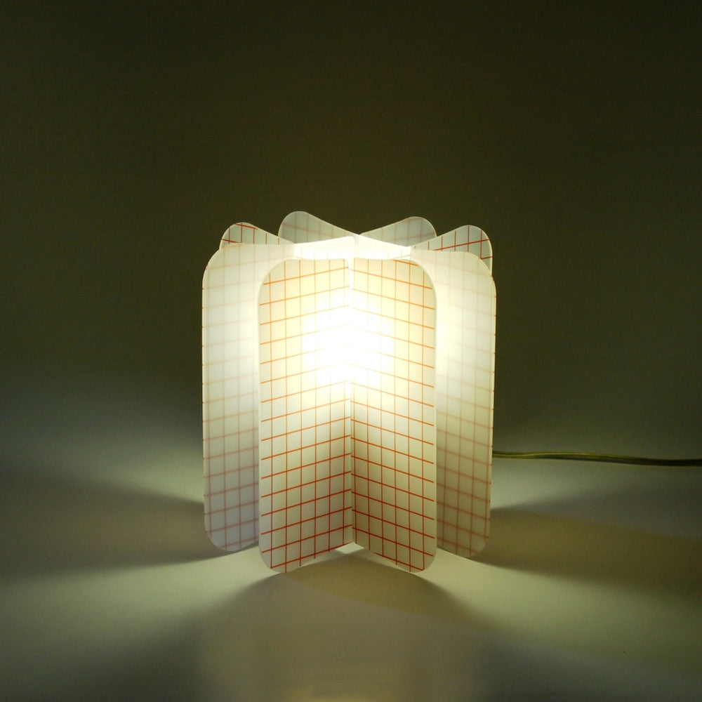 Lampada Ecologica Abat-Jour Net Join Lamp Patterns Remind Rosso