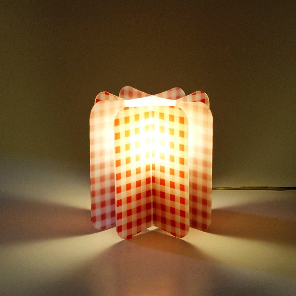 Lampada Ecologica Abat-Jour Picnic Join Lamp Patterns Remind Rosso