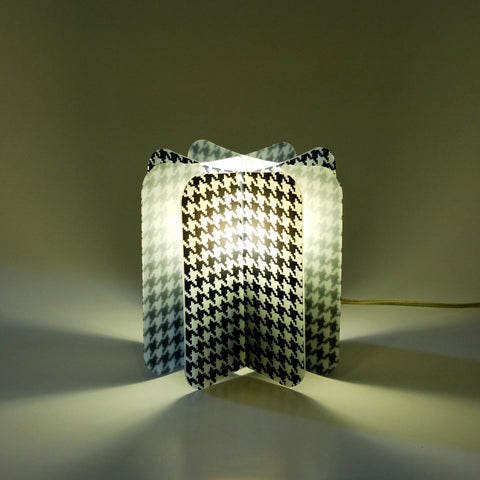 Lampada Ecologica Abat-Jour Pied-De-Poule Join Lamp Patterns Remind
