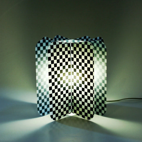 Lampada Da Tavolo Ecologica Chess Join Lamp Patterns Remind Nero