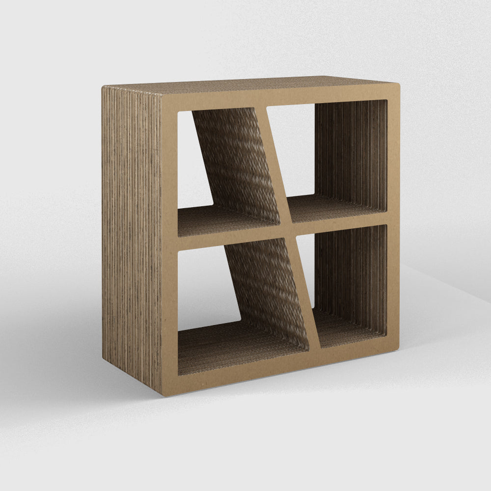 Libreria in Cartone Mo-68 Avana Uncadesign