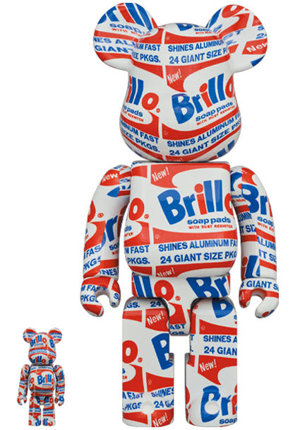 Bearbrick x Andy Warhol Brillo 100% Plus 400% Set
