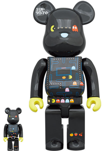 Bearbrick PAC-MAN 100% Plus 400% Set