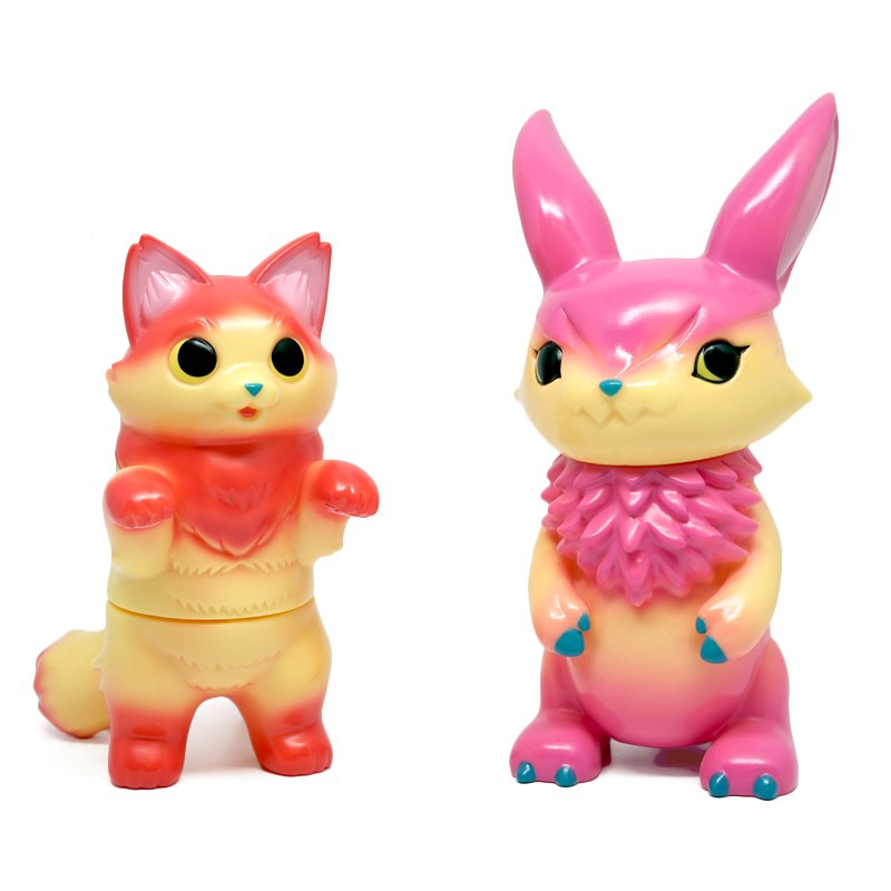 "Konatsu x DEVILROBOTS - 3.5"" Fluffy Negora and MIMIRA Set - Collect and Display"