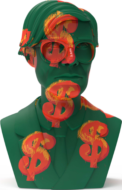 Kidrobot x Andy Warhol Dollar Sign Bust (Limited Edition)