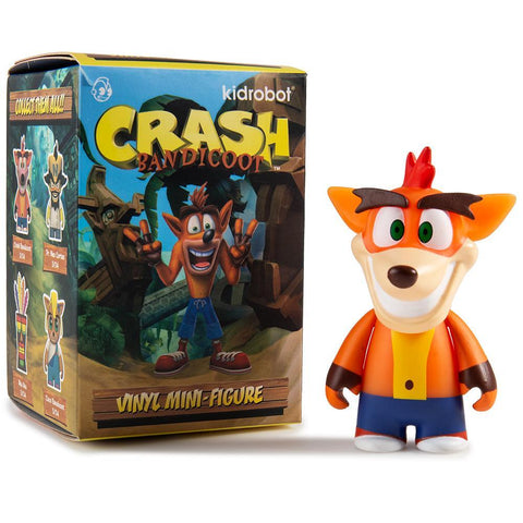 "Kidrobot x Crash Bandicoot - 3"" Mini Series (Blind Box) - Collect and Display"