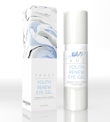 TAHZI EYE CREAM GEL, ANTI AGING FOR DARK CIRCLES, INCREASES SKIN ELASTICITY 30ML BOTTLE