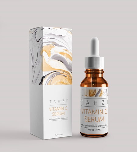 Premium Vitamin C Serum Topical Anti-Aging Face Treatment with Hyaluronic Acid.