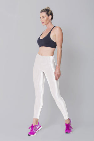 Disco Legging White 3D - LeggingStocks