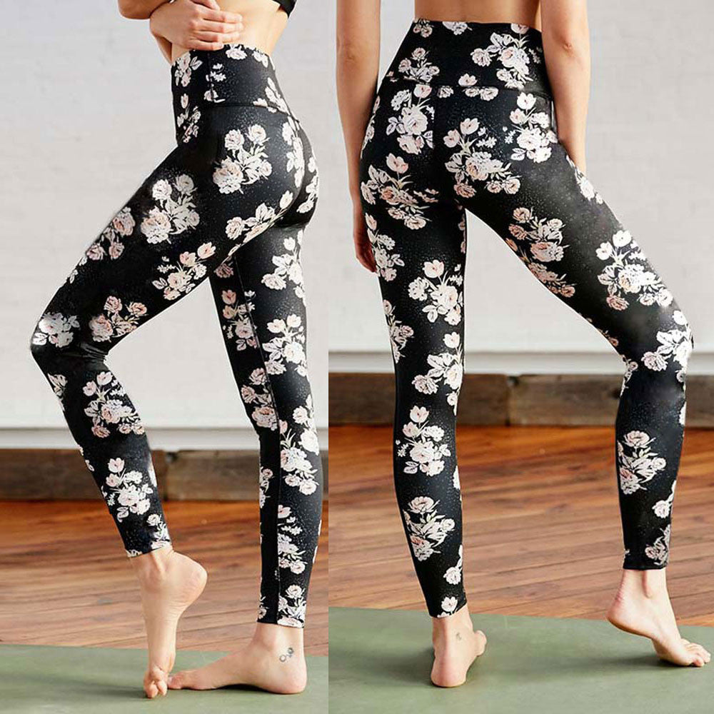Floral Workout Yoga Pants - LeggingStocks