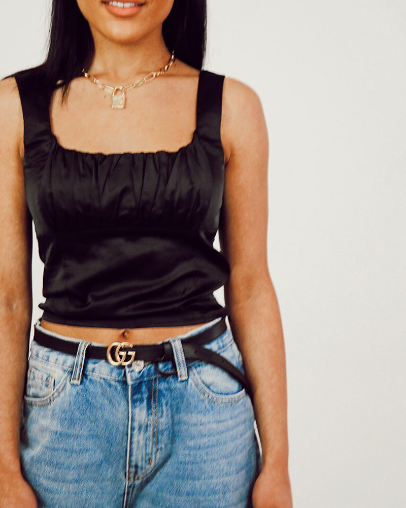 Forever Yours Top In Black