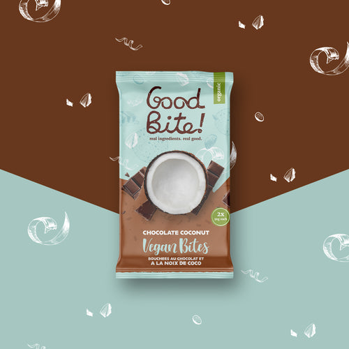 Chocolate Coconut Bites | Vegan - 16 Packs of 2 Bites