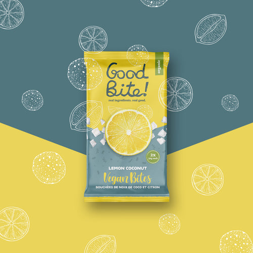 Lemon Coconut Bites | Vegan - 16 Packs of 2 Bites