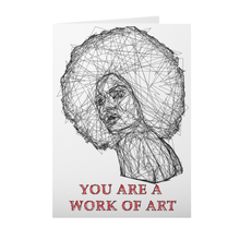 Load image into Gallery viewer, African American - Afro Girl Sketch - Valentine's Day Card