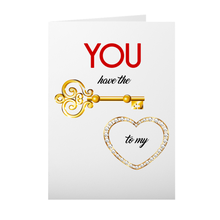Load image into Gallery viewer, Key To My Heart Valentine's Day Card