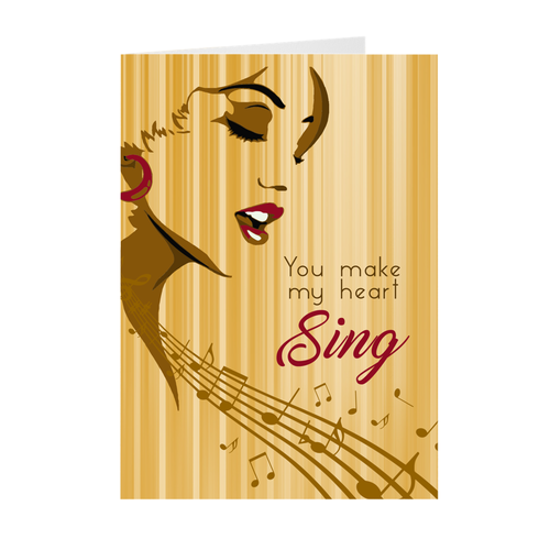 My Heart Sing - African American Woman - Greeting Card