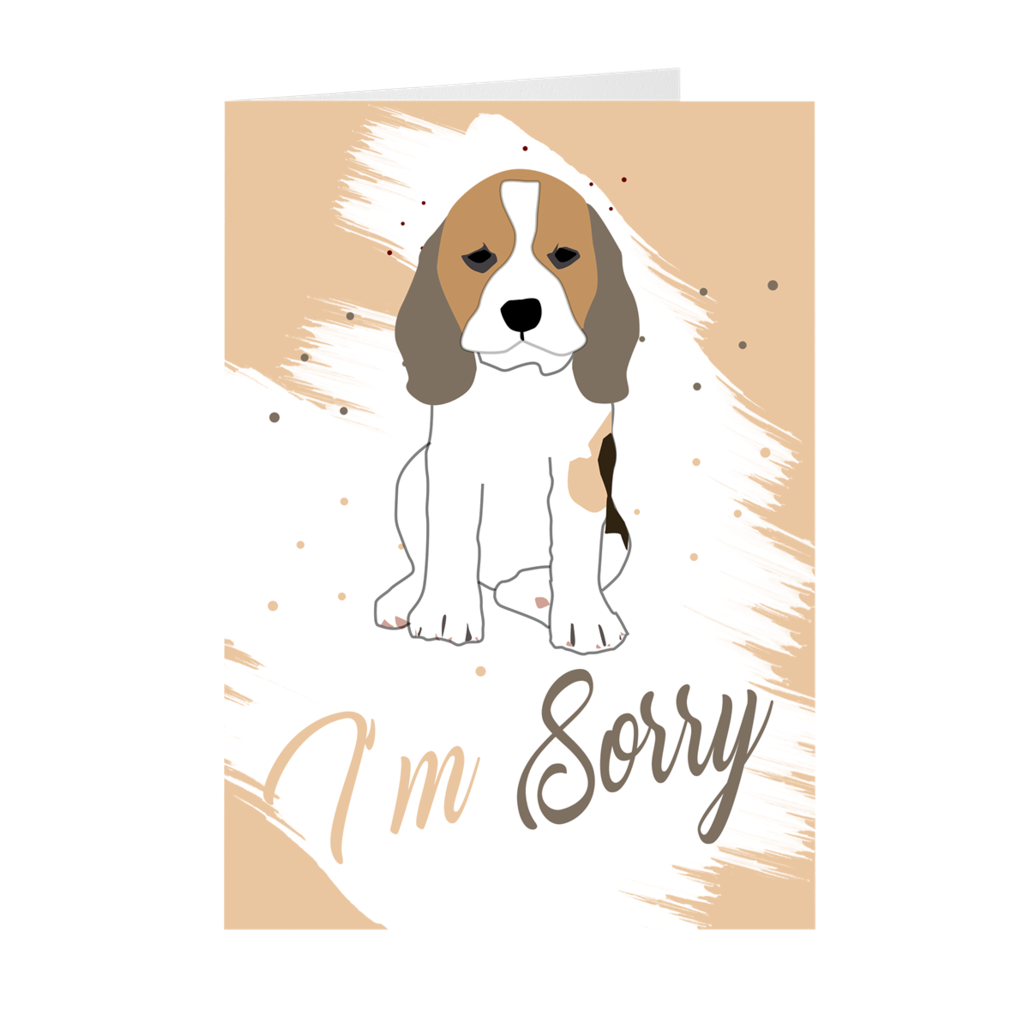 Sad Face Dog - I'm Sorry - Apology Card