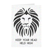 Load image into Gallery viewer, Lion - Keep Your Head Held High - Inspirational Card