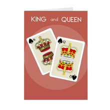 Load image into Gallery viewer, Crown Cards - King and Queen Unstoppable - Card
