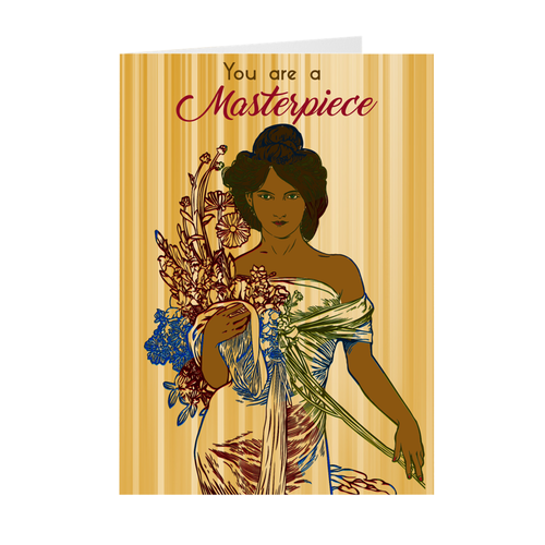 African American Woman - You Are A Masterpiece - Greeting Card